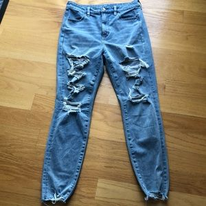 American eagle highest rise jegging size 10 rips